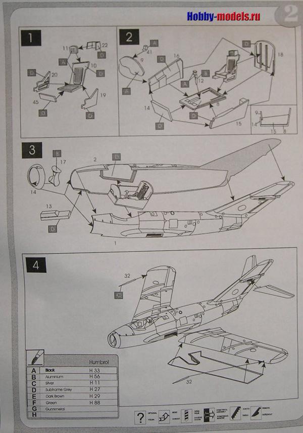 Инструкция модели МиГ-17