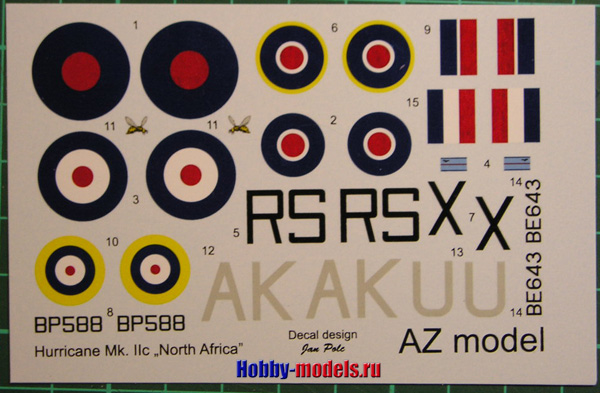 decal Hawker Hurricane