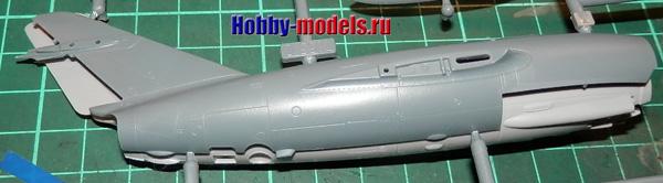 model mig-15 fuselage