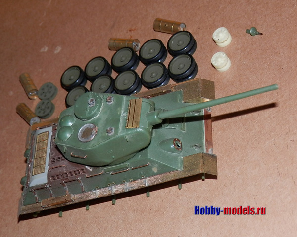 t-34-85 um model in work