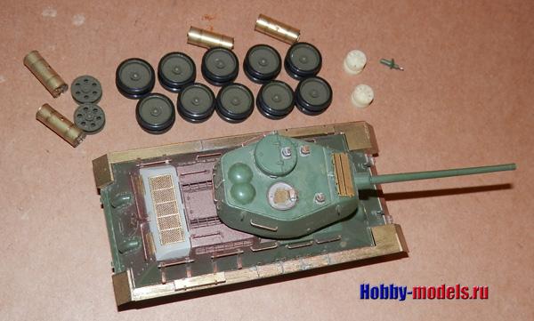 t-34-85 model in work