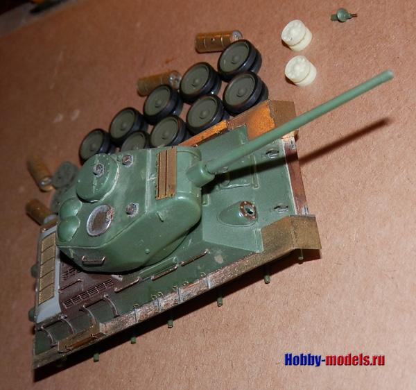 t-34-85 model progress