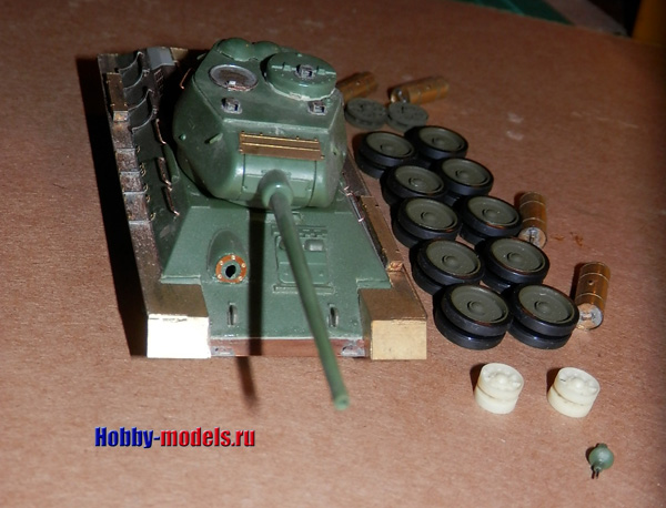 t-34-85 model before paint