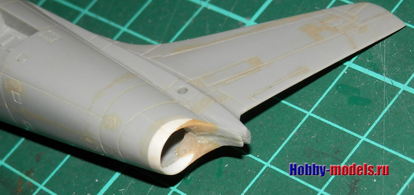 f-86 tail and  tamiya epoxy putty