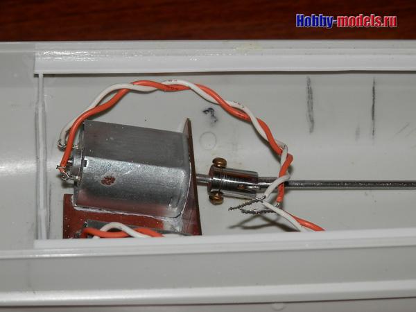 двигатели установлены в радиоуправляемую модель