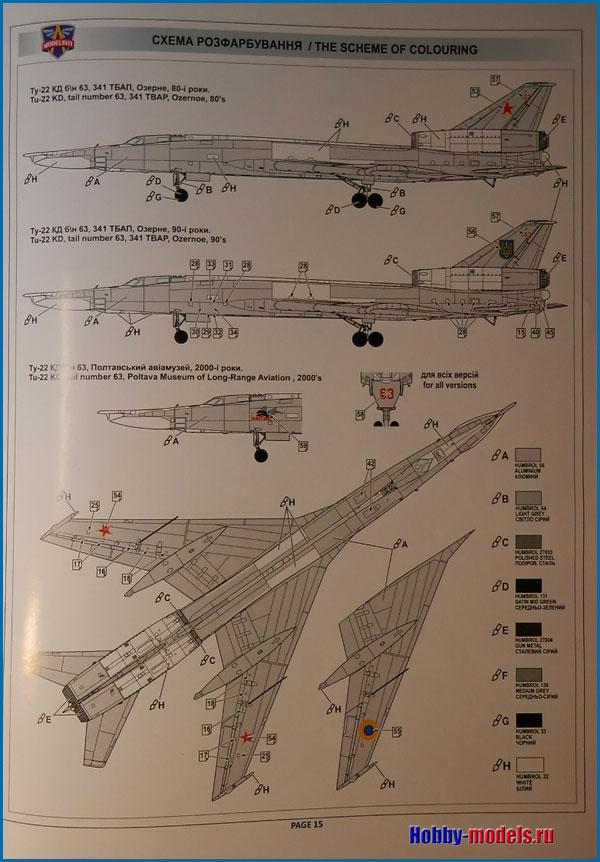 Инструкция модели Ту-22