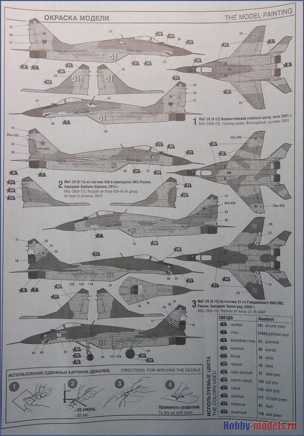 окраска модели МиГ-29