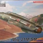 Модель самолета МиГ-21.